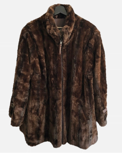 Burberry Prorsum faux fur