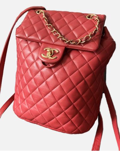 Chanel plecak czerwony