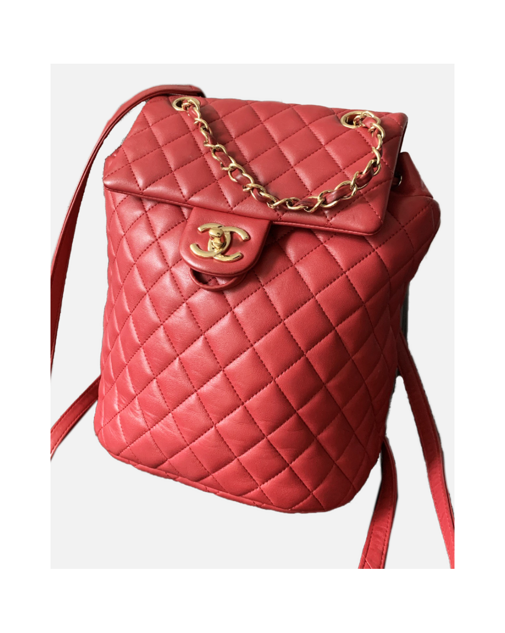 Chanel red backpack