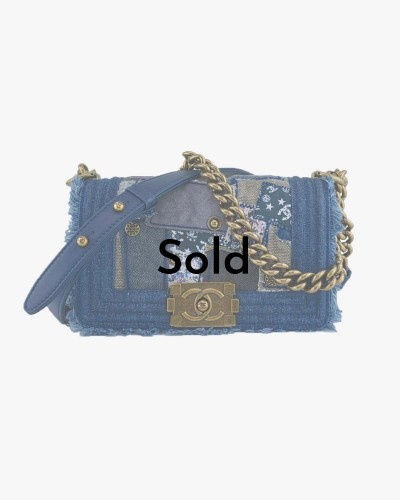 Chanel Small Le Boy Denim...