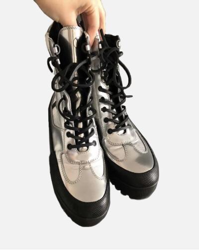 Louis Vuitton silver ankle...