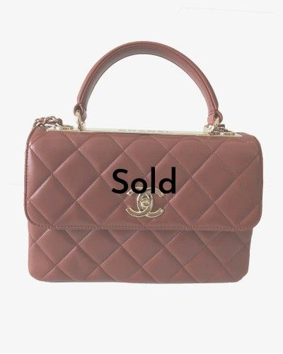 Chanel Trendy CC red leather