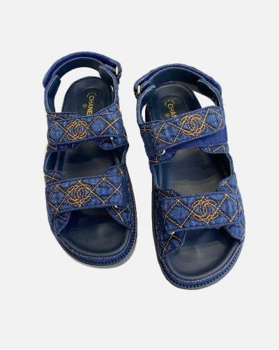 Chanel Dad Denim sandals
