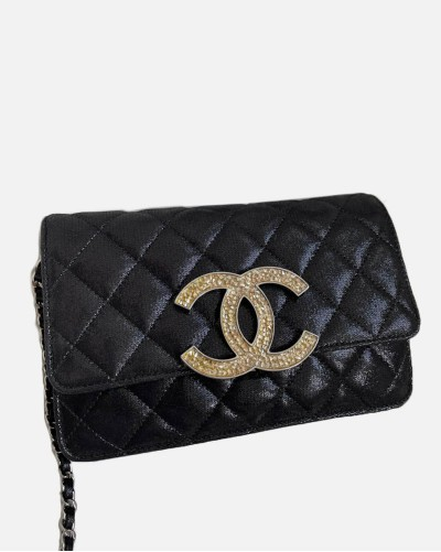 Chanel WOC Black Quilted...