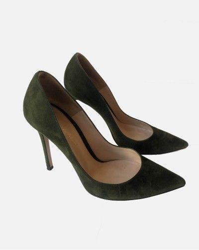 Gianvito Rossi green heels