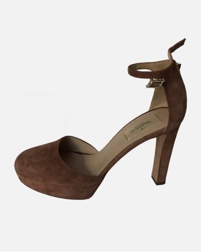 Valentino sandały zamszowe