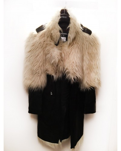 Chanel faux fur coat