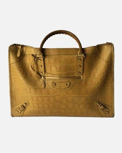 Balenciaga Crocodile Weekender Bag