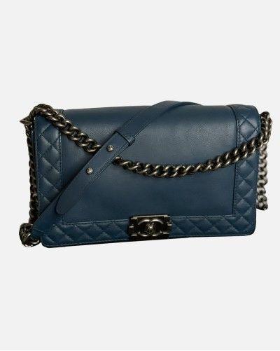 Chanel Boy Reverso bag dark...